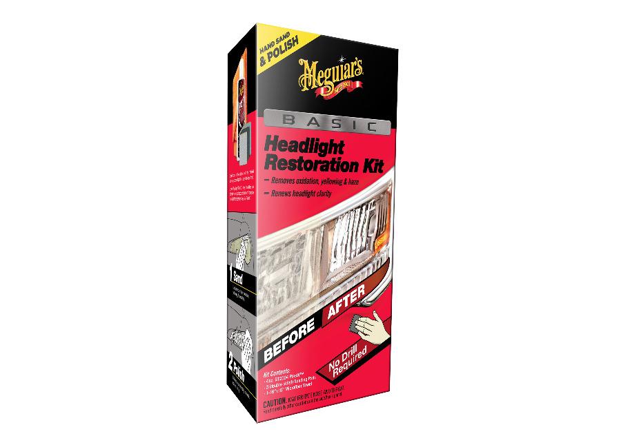 Meguiar's Basic Headlight Restoration Kit - základní sada pro ruční renovaci lehce zašlých a poškozených světlometů (Hýčkejte si i Vy svůj vůz špičkovou kvalitní autokosmetikou od Meguiar's - jedničky amerického trhu!)