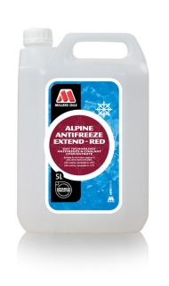 MILLERS OILS Alpine Antifreeze Extend - Red – 5 l
