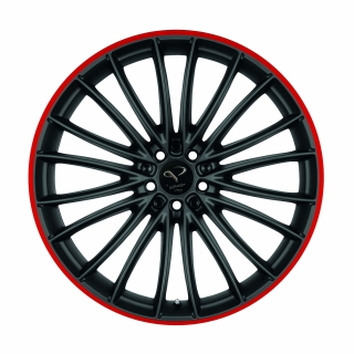 CORSPEED LE MANS Mattblack Puresports / Color Trim rot - 8x18 / 5x112 / ET45, RTLEM80845R/PURESPORTS/3000