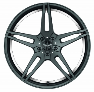 BARRACUDA STARZZ Mattblack-polished / undercut Color Trim weiss - 8,5x19 / 5x112 / ET45, RTSTA85945R/MB-P/9003