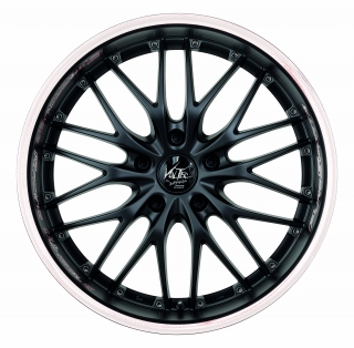 BARRACUDA VOLTEC T6 SUV Mattblack Puresports / Color Trim weiss - 9x20 / 5x120 / ET45, RTVO690045T/PURESPORTS/9003