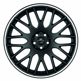 BARRACUDA KARIZZMA Mattblack Puresports / Color Trim weiss - 11x19 / 5x130 / ET52, RTKAR11952Z/PS/9003