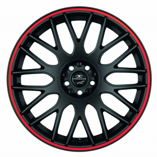 BARRACUDA KARIZZMA Mattblack Puresports / Color Trim rot - 11x19 / 5x130 / ET52, RTKAR11952Z/PS/3000