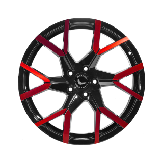 BARRACUDA TZUNAMEE EVO Black gloss Flashred - 8x18 / 5x108 / ET40, RCTZUE80840N/GBS-flashred