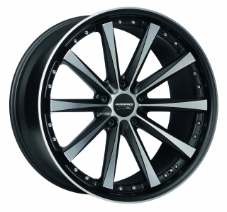 CORSPEED ARROWS Mattblack-polished - 9x18 / 5x112 / ET35, RCARR90835R/MB-P