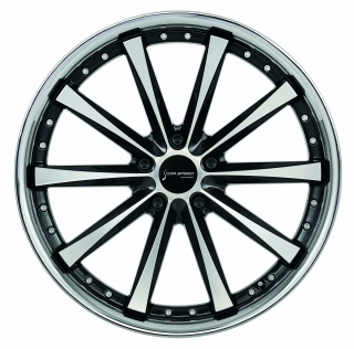 CORSPEED ARROWS Higloss black polished inox lip - 8x18 / 5x120 / ET38, RCARR80838T/GB-P_I