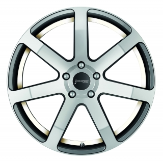 CORSPEED CHALLENGE Higloss-Gunmetal-polished / undercut Color Trim weiss - 10x20 / 5x120 / ET40, RCCHA10040T/HGGM-P/9003