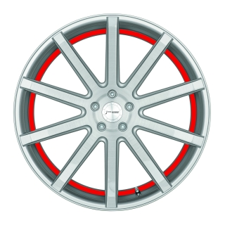 CORSPEED DEVILLE Silver-brushed-Surface/ undercut Color Trim rot - 10,5x21 / 5x114,3 / ET40, RCDEV105140S/SBS/3000