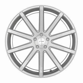 CORSPEED DEVILLE Silver-brushed-Surface/ undercut Color Trim weiß - 10,5x21 / 5x114,3 / ET40, RCDEV105140S/SBS/9003