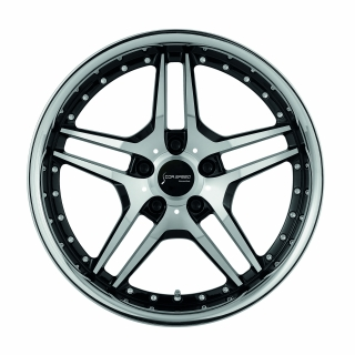 CORSPEED VEGAS Higloss black polished inox lip - 8,5x19 / 5x112 / ET45, RCVEG85945R/GD/GB-P_I