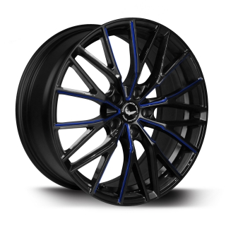 BARRACUDA ULTRALIGHT PROJECT 3.0 Black gloss Flashblue - 8,5x18 / 5x115 / ET38, RTPRO385838U/MBSP-flashblue
