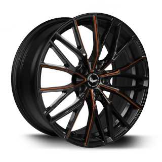 BARRACUDA ULTRALIGHT PROJECT 3.0 Black gloss Flashorange - 8,5x18 / 5x115 / ET38, RTPRO385838U/MBSP-flashorange