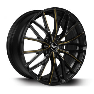 BARRACUDA ULTRALIGHT PROJECT 3.0 Black gloss Flashgold - 8,5x18 / 5x115 / ET38, RTPRO385838U/MBSP-flashgold