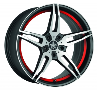 BARRACUDA STARZZ Mattblack-polished / undercut Color Trim RAL - 8,5x19 / 5x112 / ET45, RTSTA85945R/MB-P/RAL