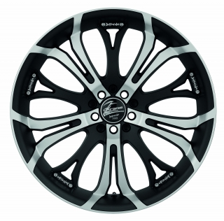 BARRACUDA TZUNAMEE Mattblack-polished / your paint - 7,5x17 / 5x100 / ET35, RTTZU75735M/R/MATTBLACK/YP