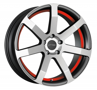 CORSPEED CHALLENGE Higloss-Gunmetal-polished / undercut Color Trim RAL - 8,5x19 / 5x112 / ET32, RCCHA85932R/HGGM-P/RAL