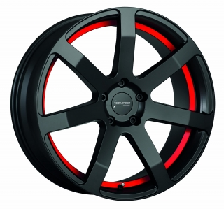 CORSPEED CHALLENGE Mattblack Puresports / undercut Color Trim RAL - 10,5x21 / 5x120 / ET40, RCCHA105140T/MB/RAL