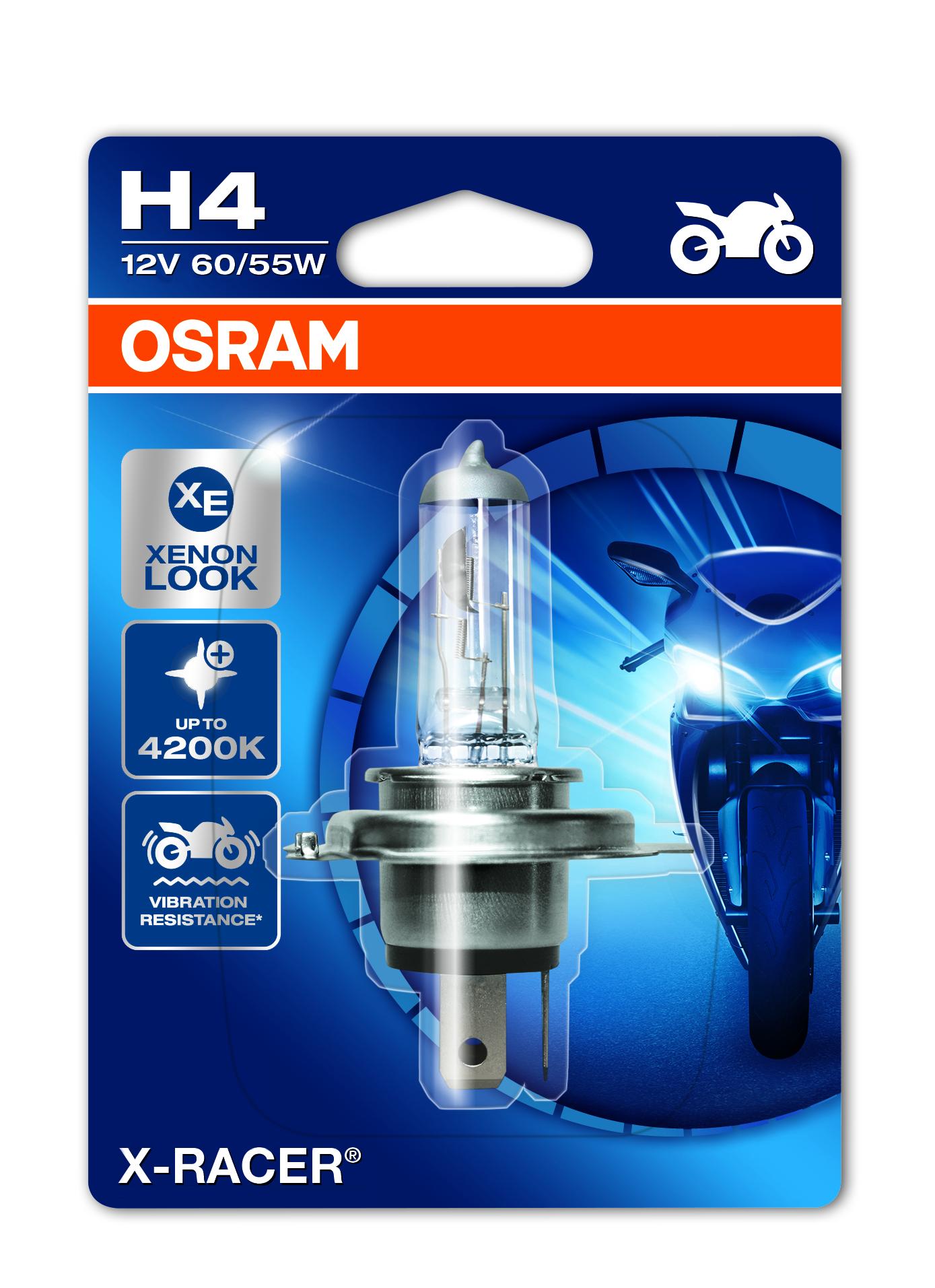 Osram halogenová žárovka, MOTO X Racer, H4, P43t, 12V, 60/55W, 64193XR-01B
