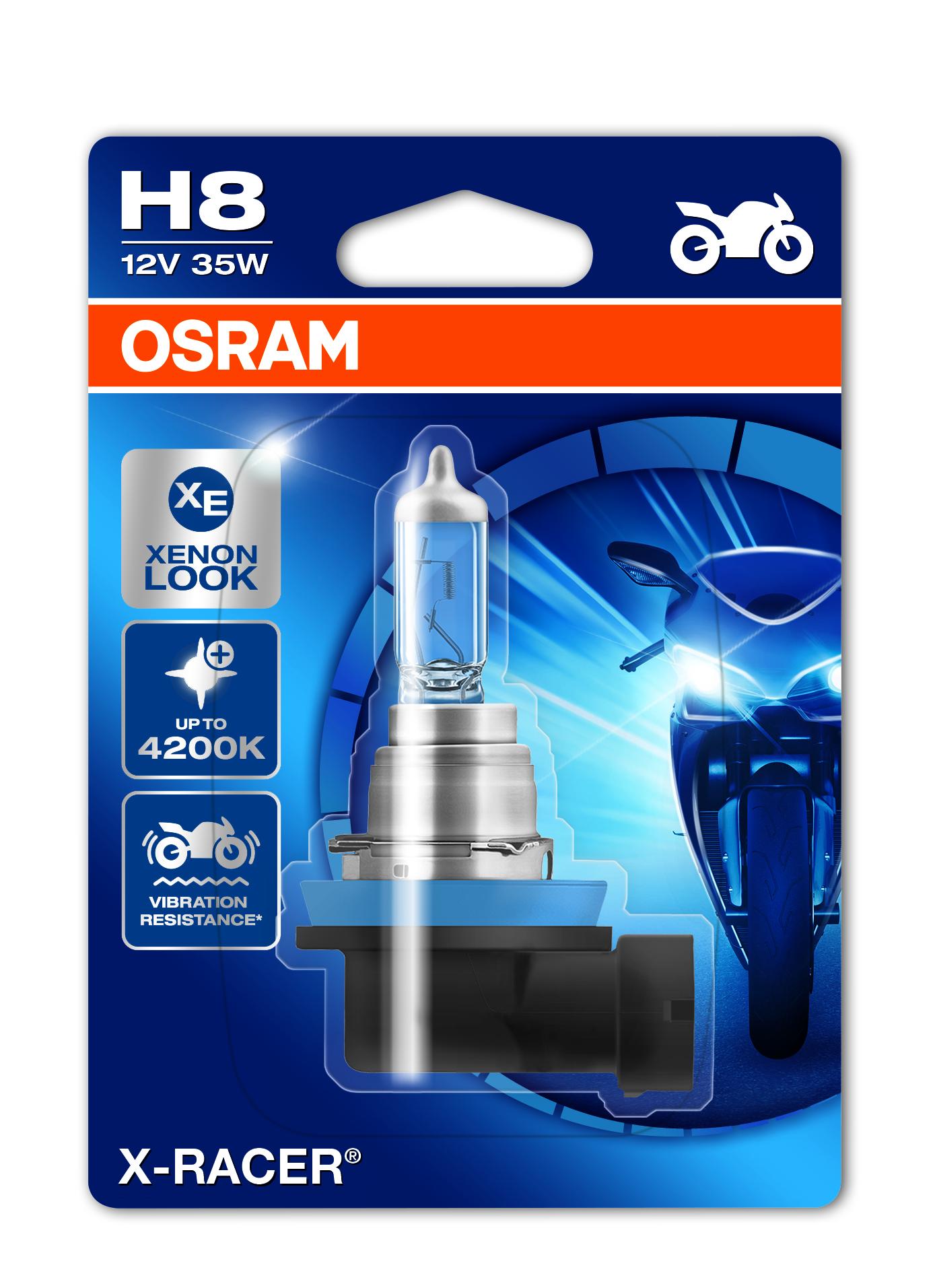 Osram halogenová žárovka, MOTO X Racer, H8, PGJ19-1, 12V, 35W, 64212XR-01B