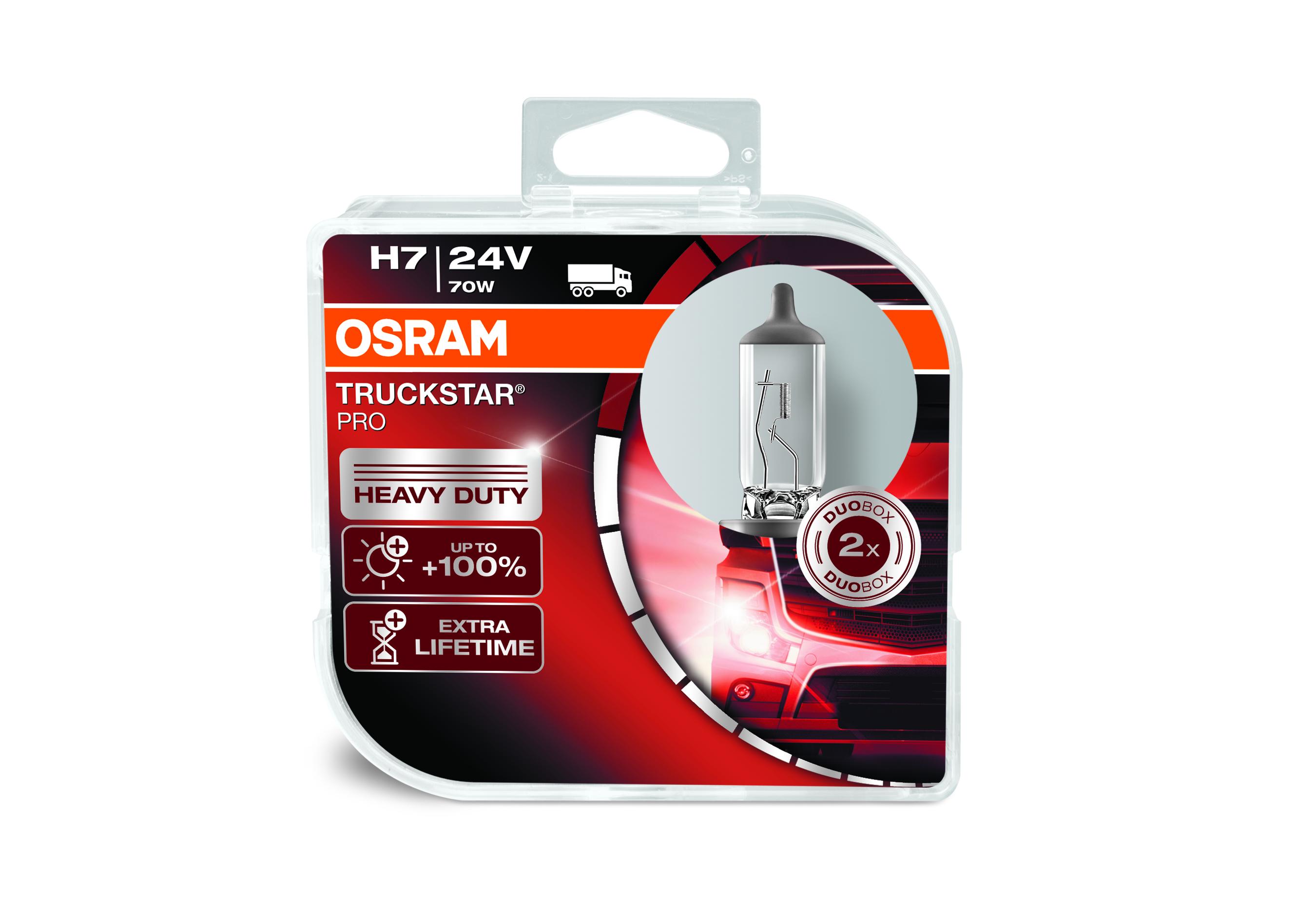 Osram halogenová žárovka, TRUCKSTAR PRO, H7, Px26d, 24V, 70W, 64215TSP-HCB
