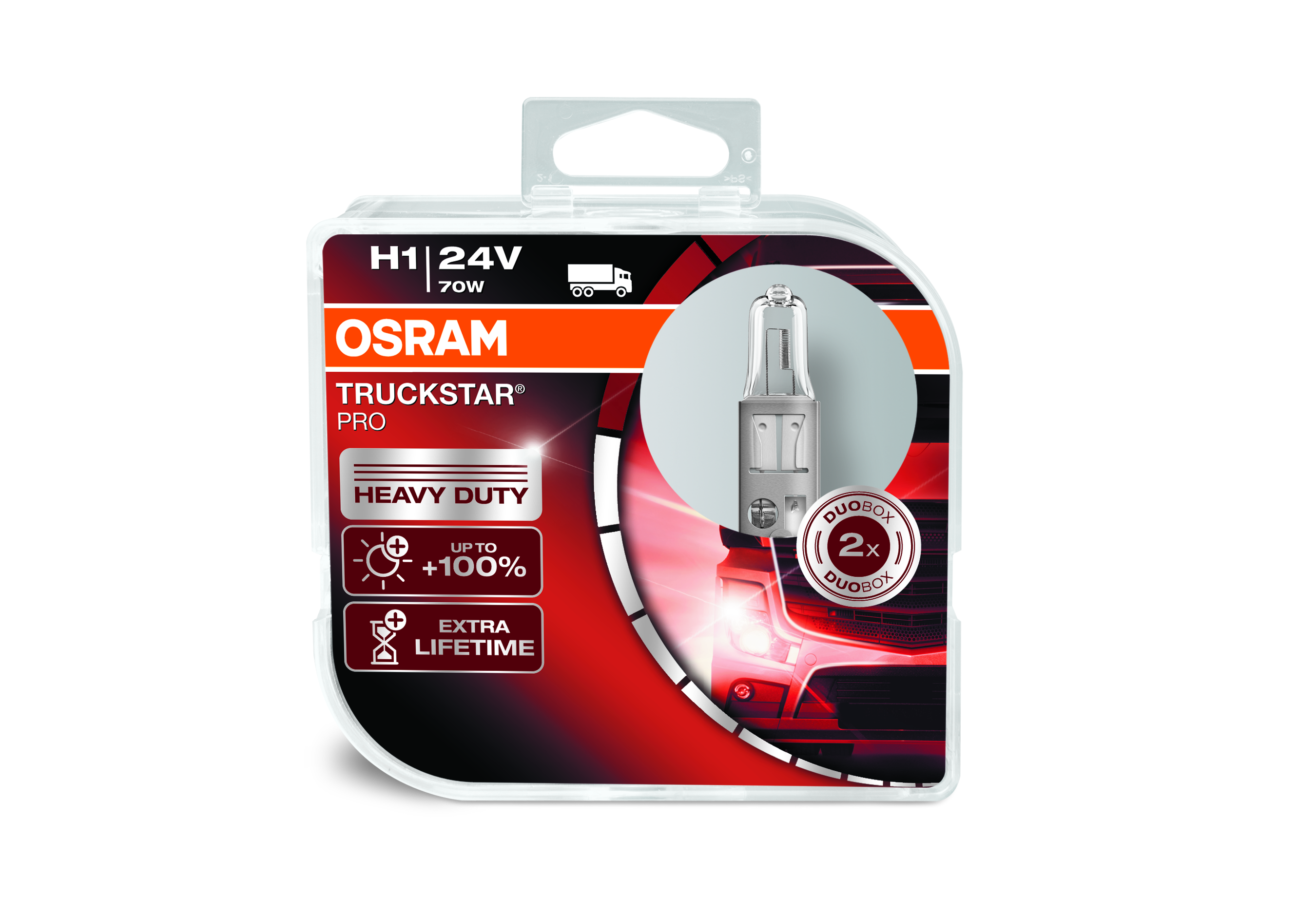 Osram halogenová žárovka, TRUCKSTAR PRO, H1, P14,5s, 24V, 70W, 64155TSP-HCB
