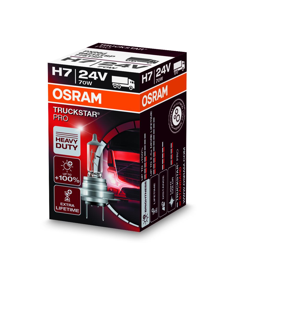 Osram halogenová žárovka, TRUCKSTAR PRO, H7, Px26d, 24V, 70W, 64215TSP