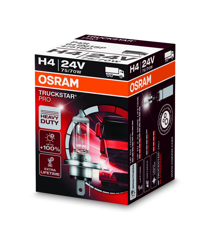 Osram halogenová žárovka, TRUCKSTAR PRO, H4, P43t, 24V, 70/75W, 64196TSP
