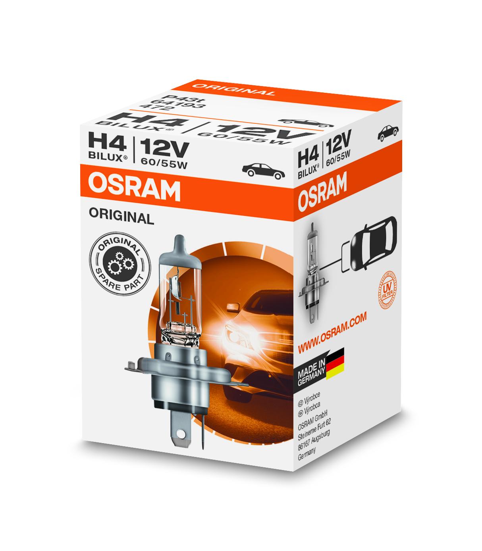 Osram halogenová žárovka, STANDARD, H4, P43t, 12V, 60/55W, 64193