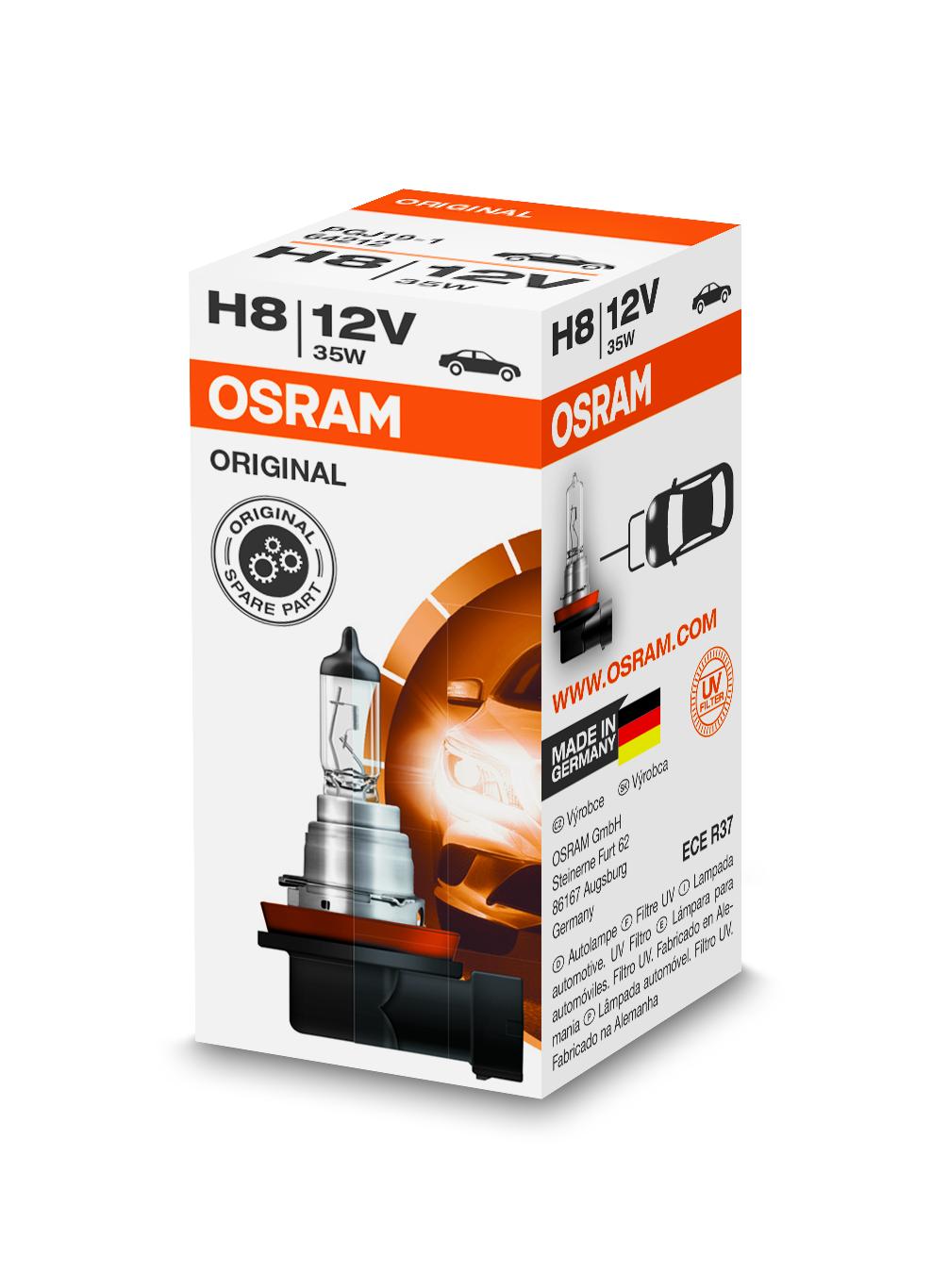 Osram halogenová žárovka, STANDARD, H8, PGJ19-1, 12V, 35W, 64212