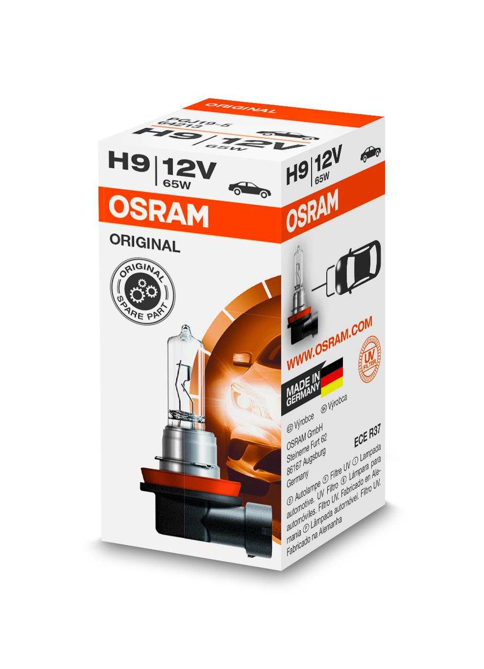 Osram halogenová žárovka, STANDARD, H9, PGJ19-5, 12V, 65W, 64213