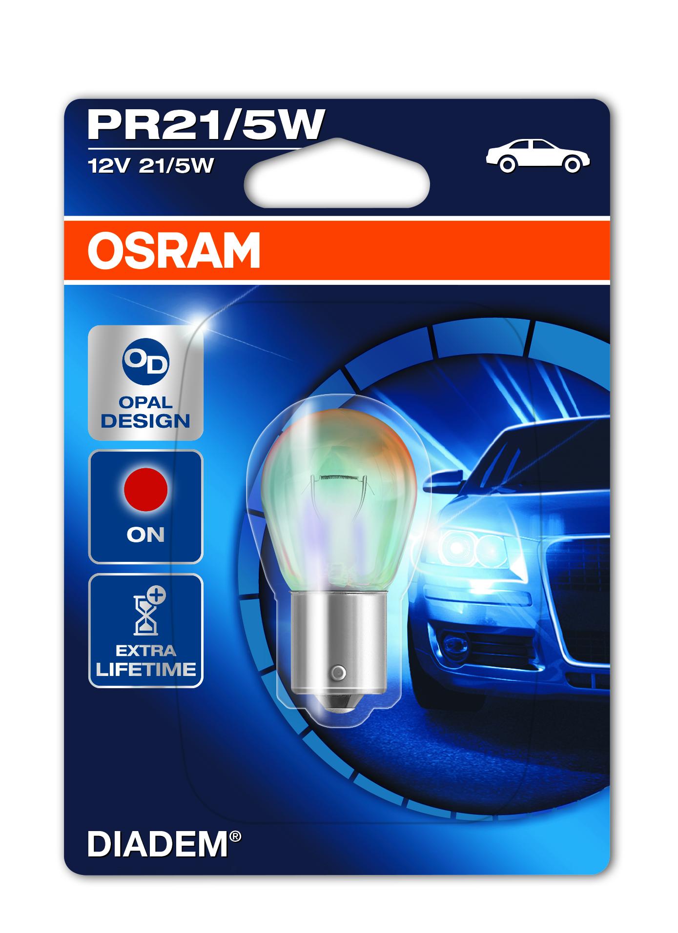 Osram halogenová žárovka, DIADEM, PR21/5W, BAW15d, 12V, 21/5W, 7538LDR-01B