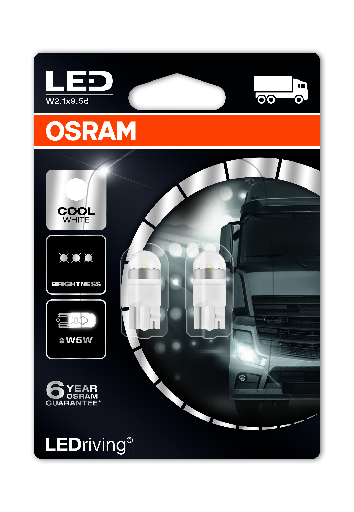 Osram LED, LEDriving Premium, W5W, W2,1x9,5d, 24V, 1W, 2824CW 6000K
