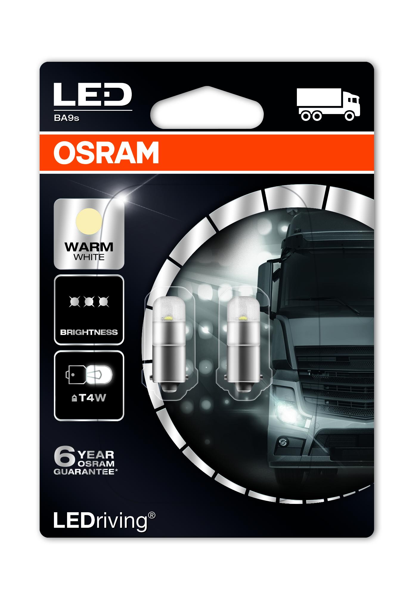 Osram LED, LEDriving Premium, T4W, BA9s, 24V, 0,8W, 3924WW 4000K