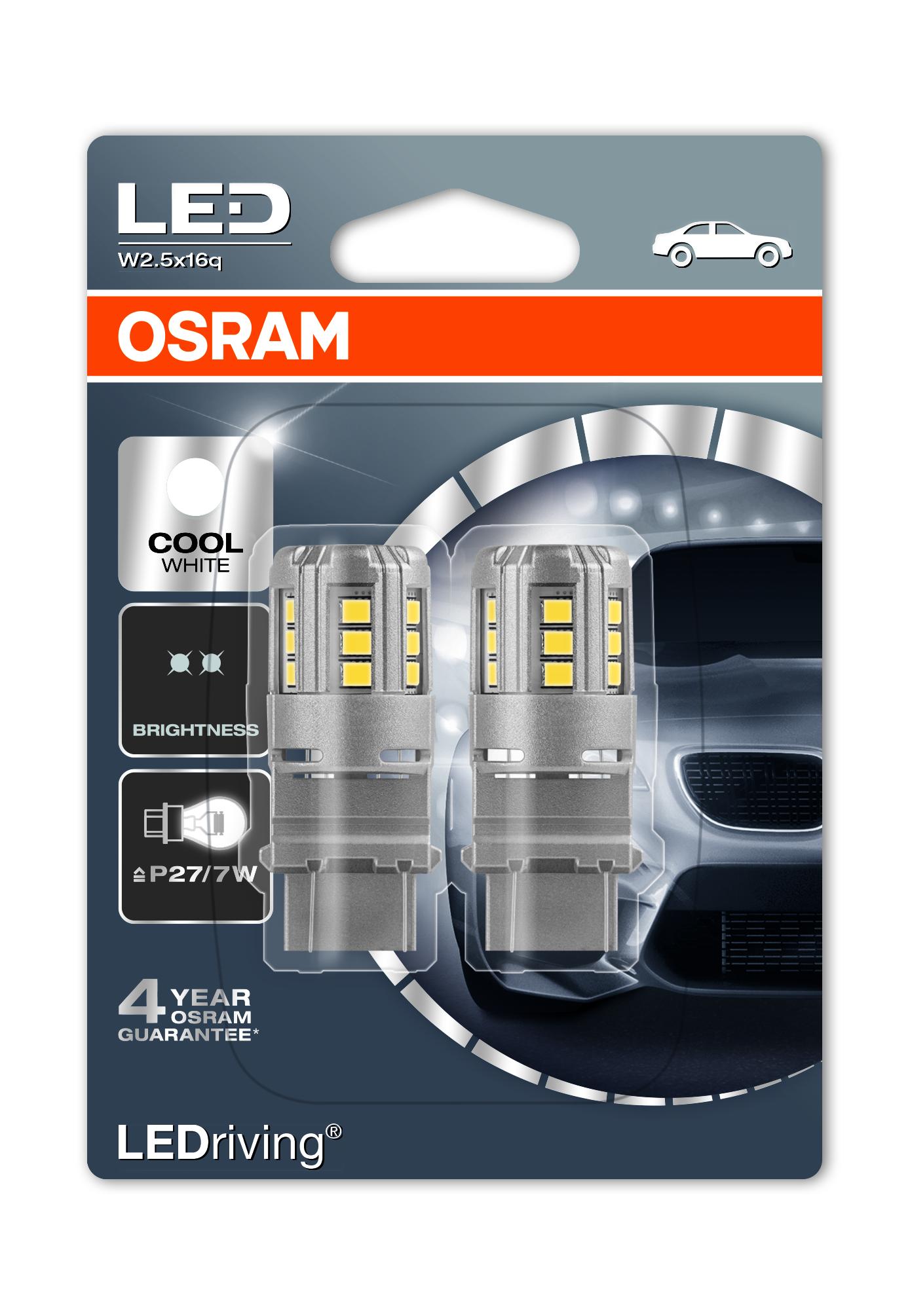 Osram LED, LEDriving Standard, P27/7W, W2.5x16q, 12V, 2,5W, 3547CW
