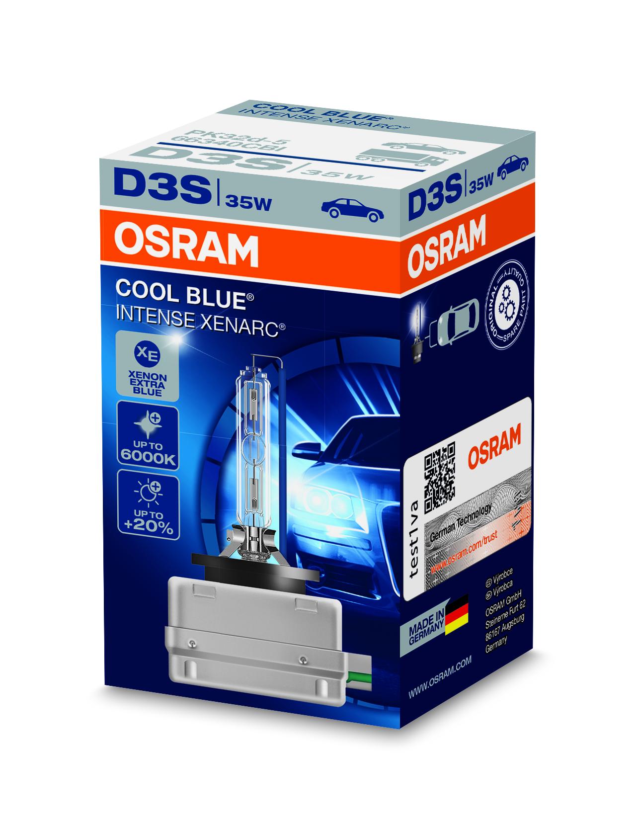 Osram Xenonová výbojka, XENARC CB INTENSE, D3S, PK32d-5, 12/24V, 35W, 66340CBI