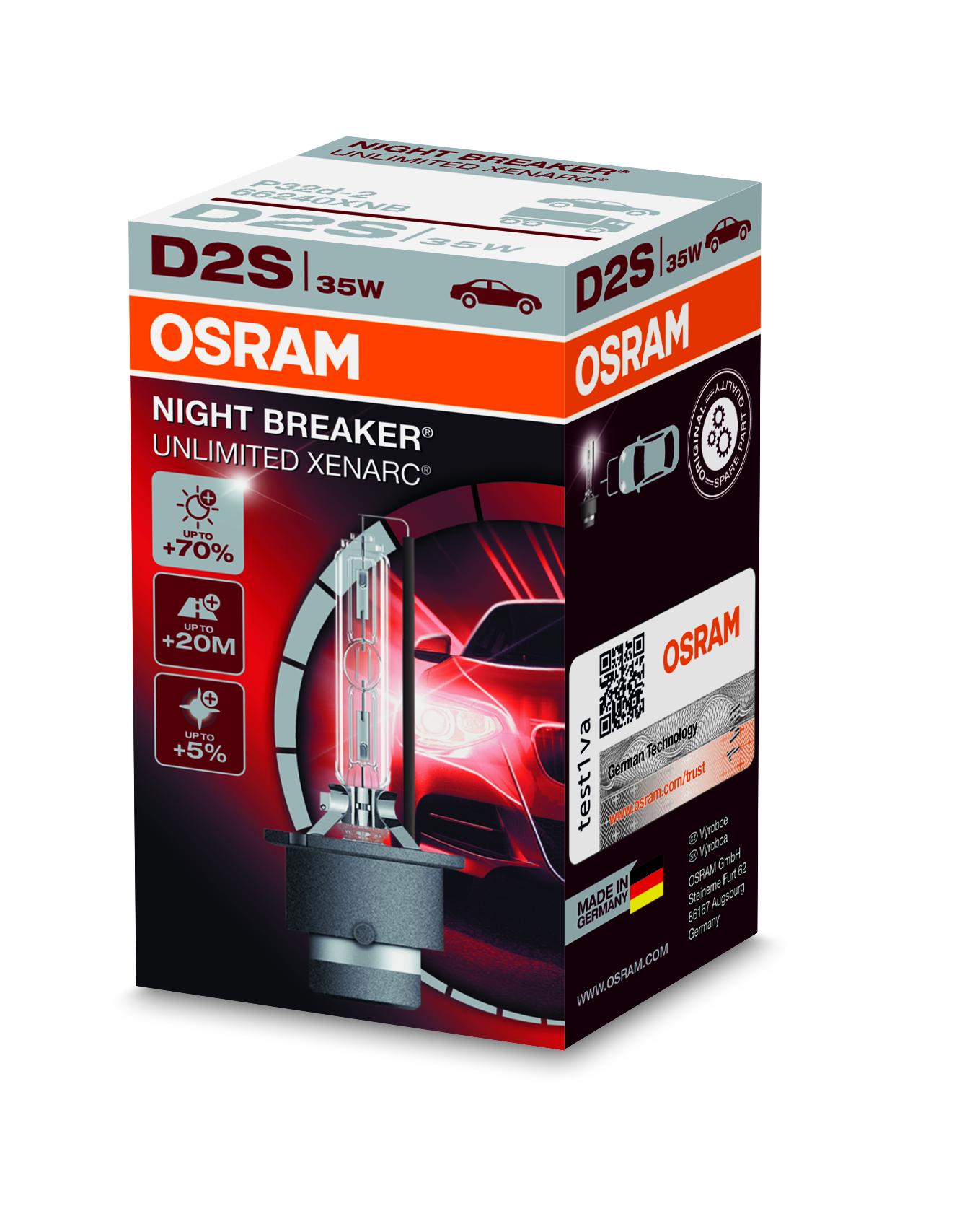 Osram Xenonová výbojka, XENARC NIGHT BREAKER UN., D2S, P32d-2, 12/24V, 35W, 66240XNB