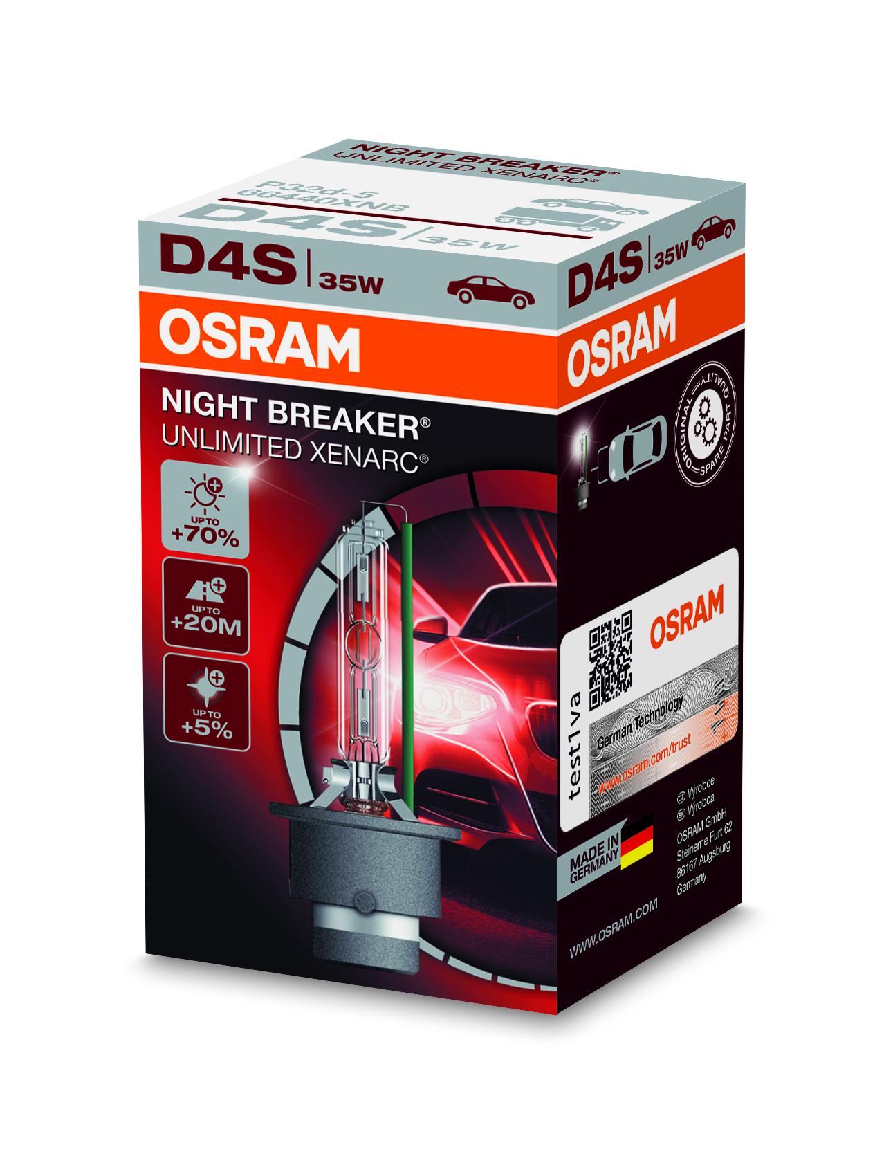 Osram Xenonová výbojka, XENARC NIGHT BREAKER UN., D4S, P32d-5, 12/24V, 35W, 66440XNB