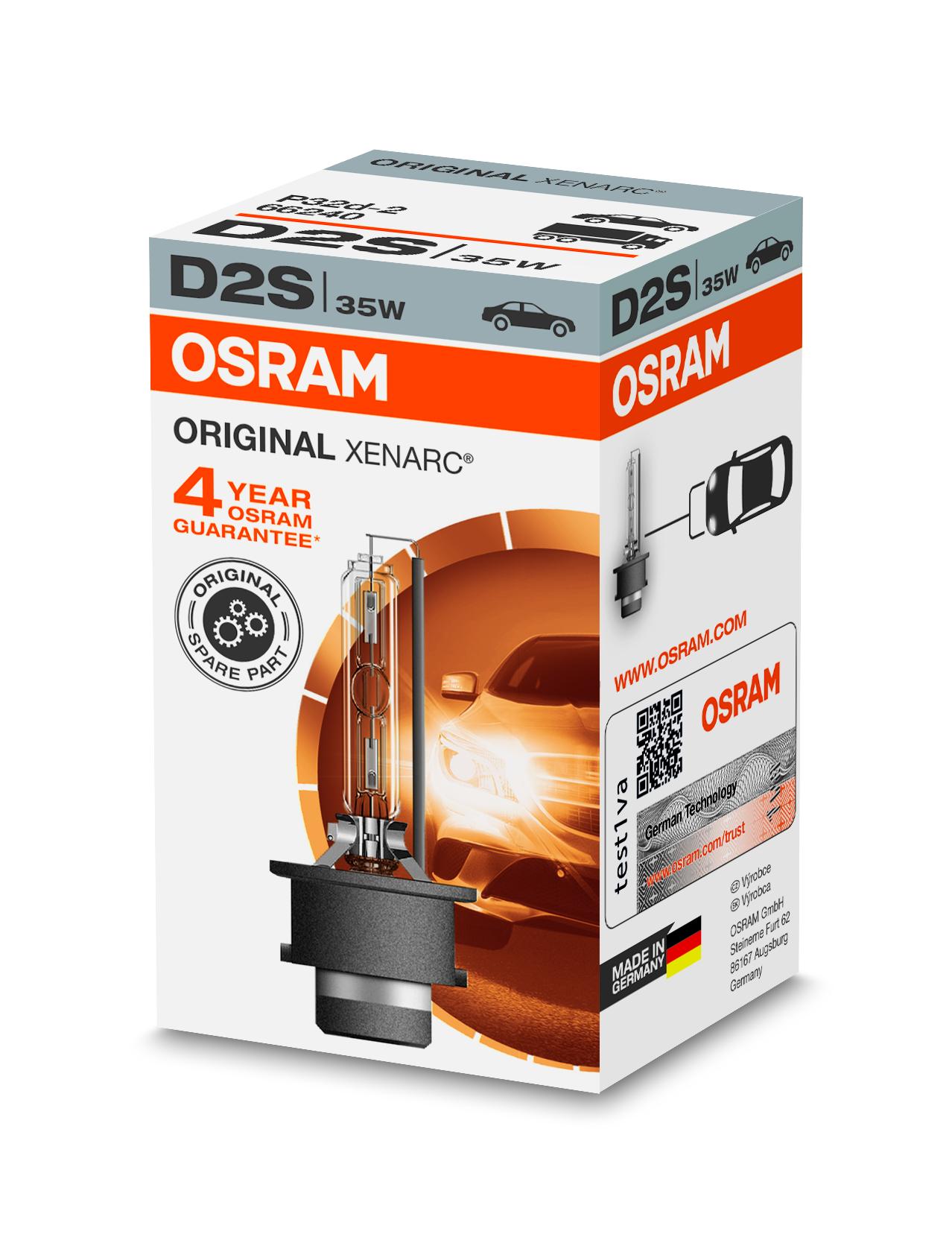 Osram Xenonová výbojka, XENARC, D2S, P32d-2, 12/24V, 35W, 66240
