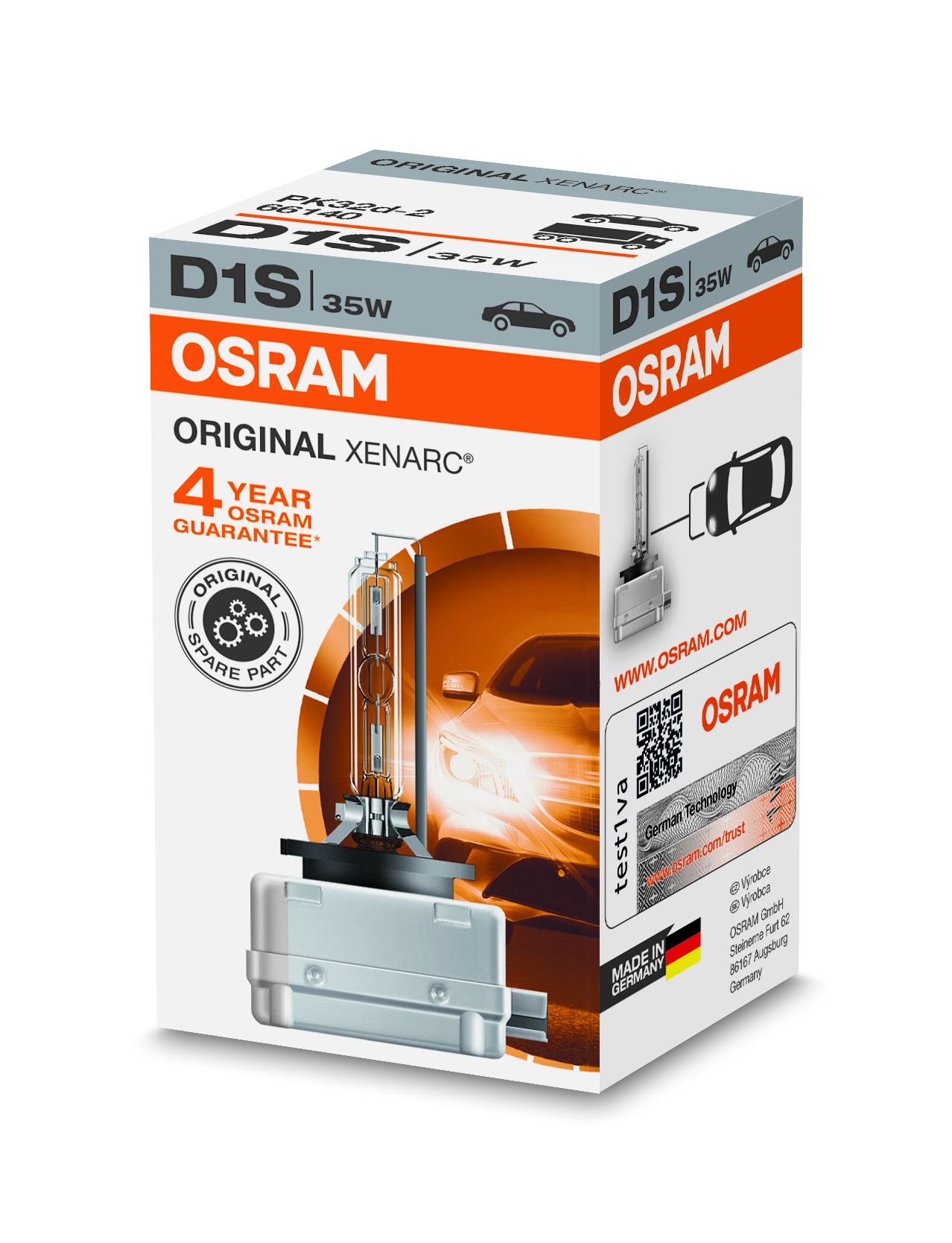 Osram Xenonová výbojka, XENARC, D1S, PK32d-2, 12/24V, 35W, 66140