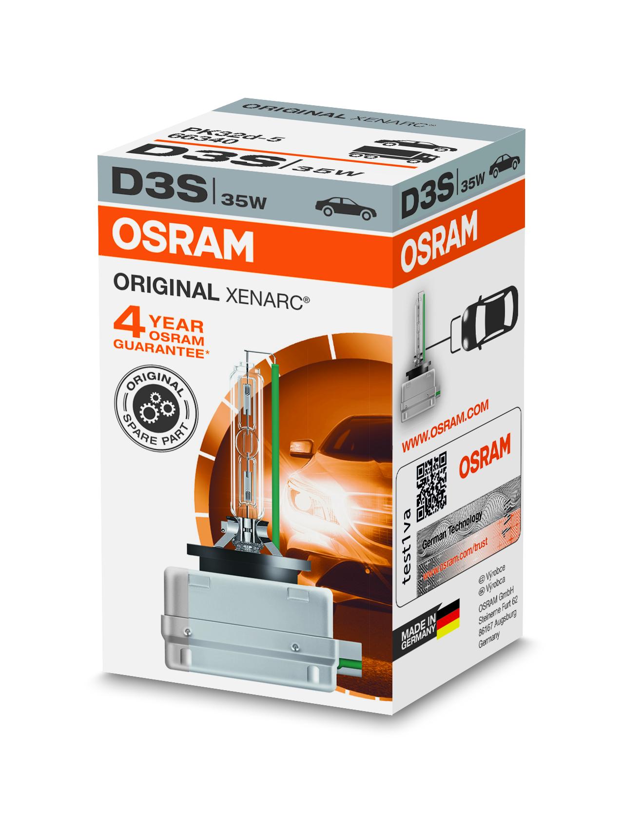Osram Xenonová výbojka, XENARC, D3S, PK32d-5, 12/24V, 35W, 66340