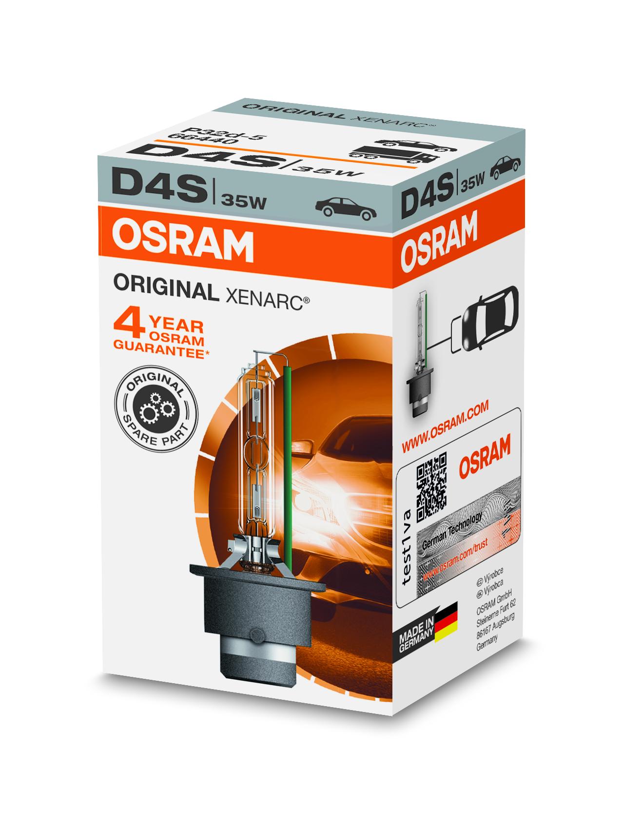 Osram Xenonová výbojka, XENARC, D4S, P32d-5, 12/24V, 35W, 66440