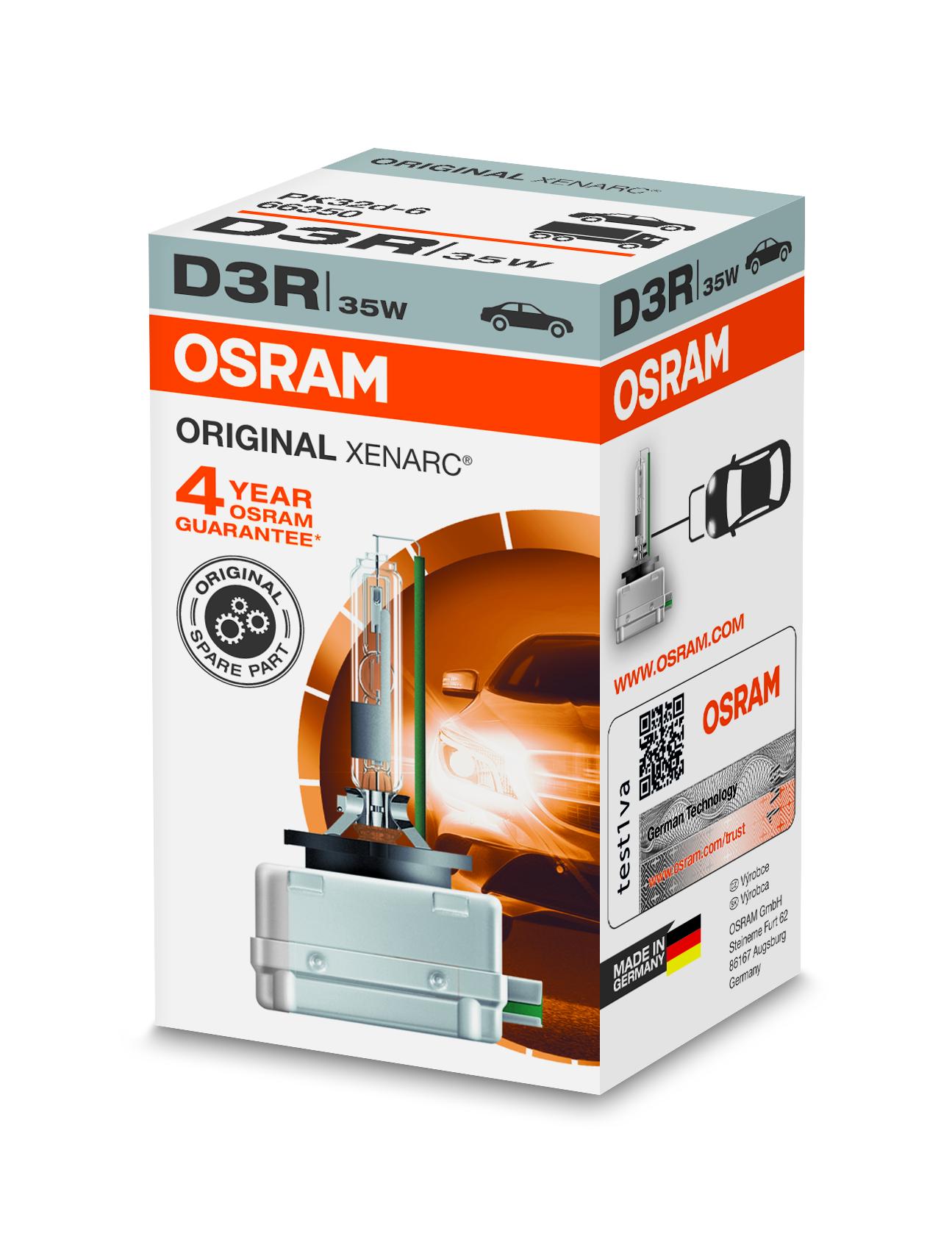 Osram Xenonová výbojka, XENARC, D3R, PK32-d-6, 12/24V, 35W, 66350