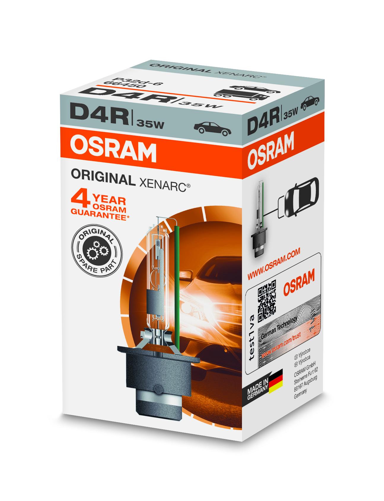 Osram Xenonová výbojka, XENARC, D4R, P32d-6, 12/24V, 35W, 66450