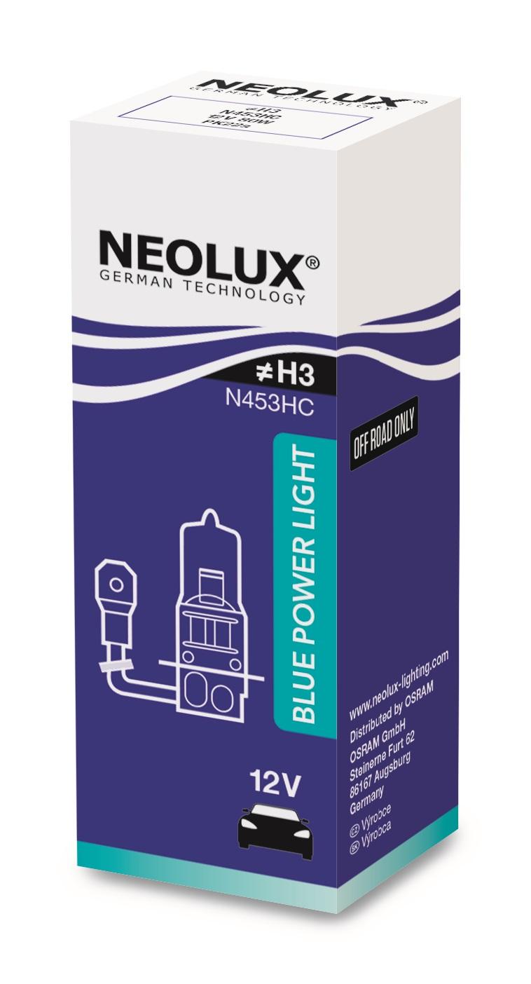Osram halogenová žárovka, NEOLUX BLUE POWER LIGHT, H3, PK22s, 12V, 80W, N453HC