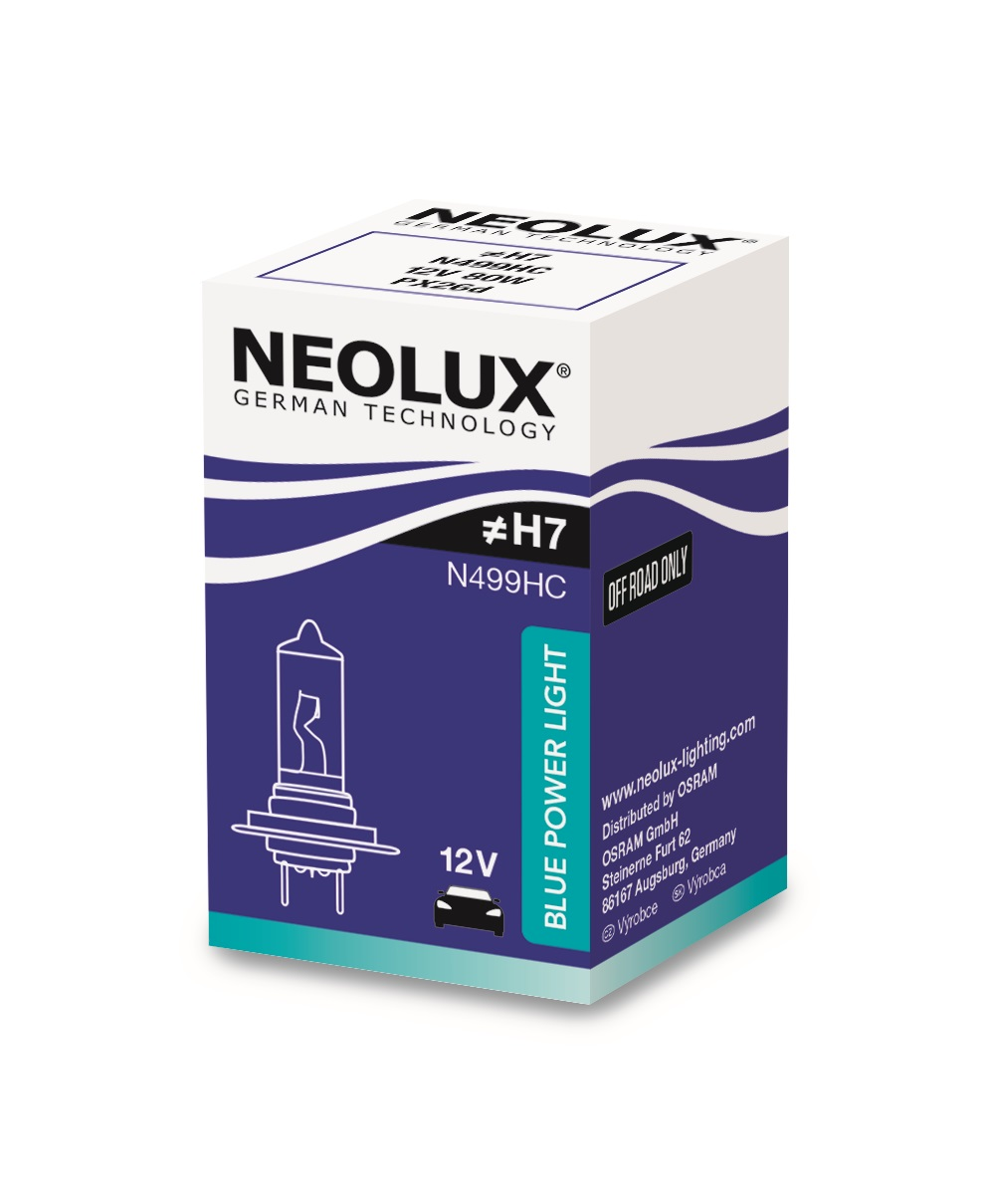 Osram halogenová žárovka, NEOLUX BLUE POWER LIGHT, H7, PX26d, 12V, 80W, N499HC
