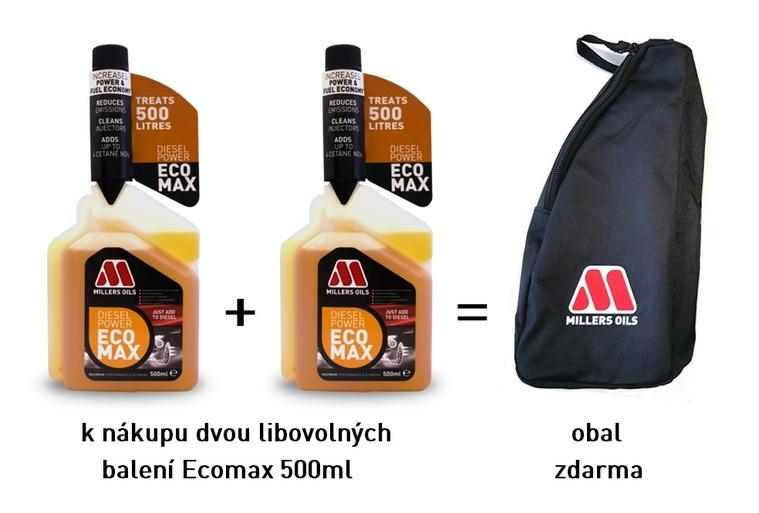 MILLERS OILS Diesel Power EcoMax –2x 500 ml včetně obalu na láhev (Naftový aditiv + 4 cetany, čistí vstřikovače a spalovací prostor, snižuje kouřivost)